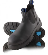 Steel Blue Hobart Elastic Sided Boot Black